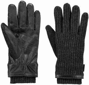 Barts Asher Gloves Dark Grey & Black