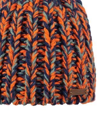 Detail Barts Beanie Tunde Orange Blau