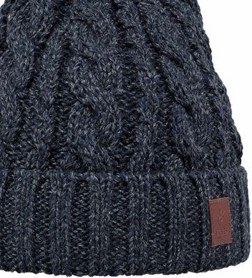 Detail Barts Beanie Twister Dunkeblau