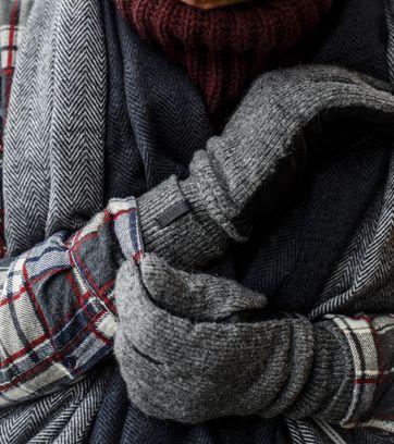 Detail Barts Handschoenen Bhric Grijs