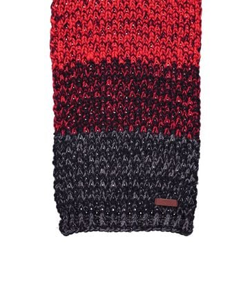 Detail Barts Sjaal Lester Zwart Rood