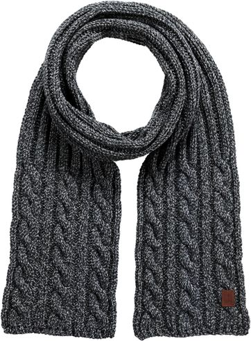Barts Twister Scarf Dark Grey