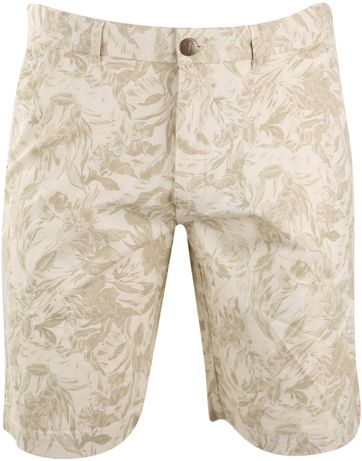 Basic Shorts Beige Print
