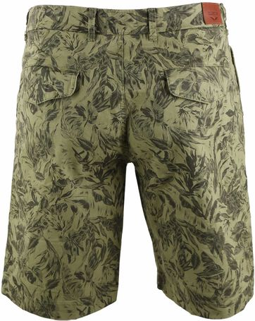 Basic Shorts Green Print