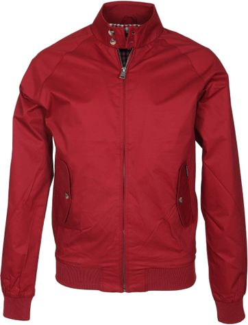 Ben Sherman Harrington Jacket Red