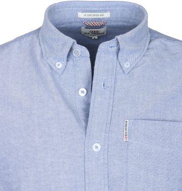 Detail Ben Sherman Hemd Blau Oxford