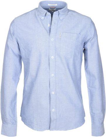Ben Sherman Overhemd Blauw Oxford