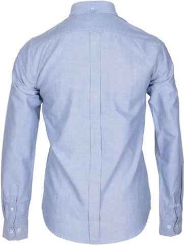Detail Ben Sherman Overhemd Blauw Oxford