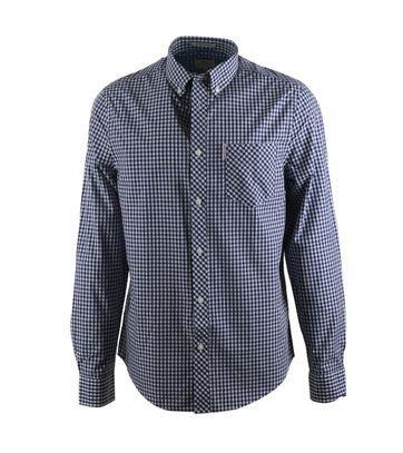 Ben Sherman Overhemd Donkerblauw Ruit