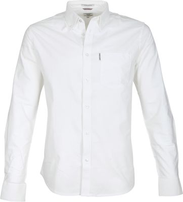 Ben Sherman Overhemd Oxford Wit