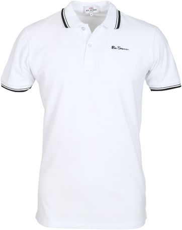 Ben Sherman Polo Romford Wit