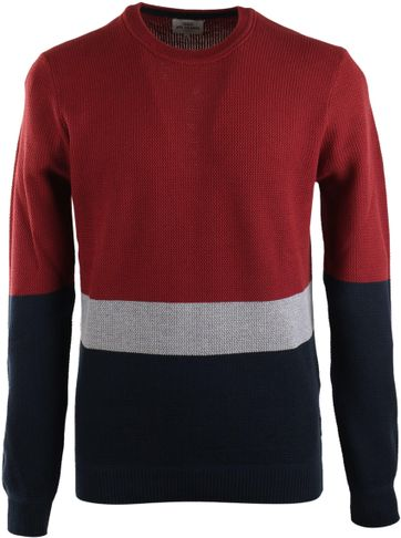 Ben Sherman Pullover Bordeaux Stripe
