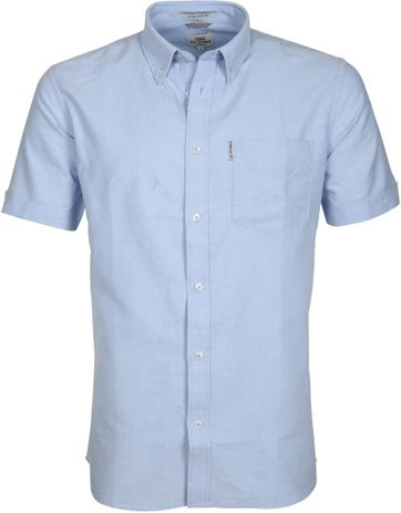 Ben Sherman Shirt Blue Shadow