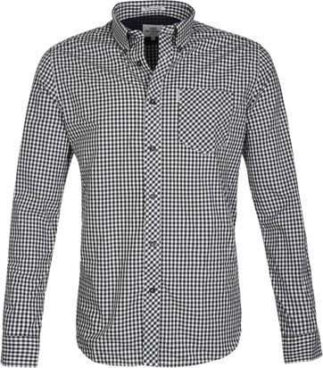 Ben Sherman Shirt Checks Black
