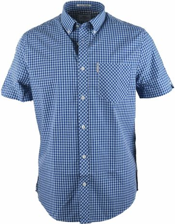 Ben Sherman Shirt Core Gingham Blue