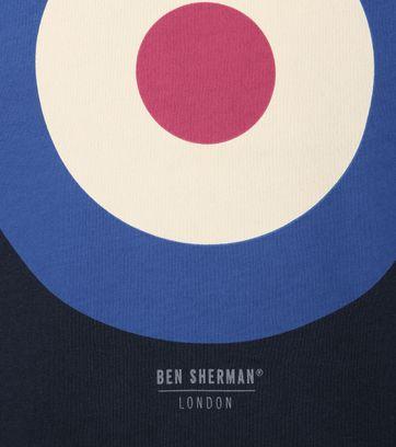 Detail Ben Sherman T-Shirt Print Dunkelblau