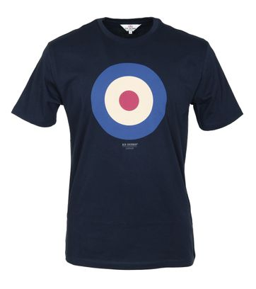 Ben Sherman T-Shirt Print Navy