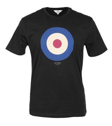 Ben Sherman T-Shirt Print Schwarz