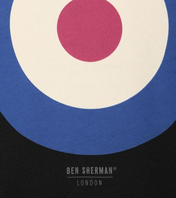 Detail Ben Sherman T-Shirt Print Schwarz