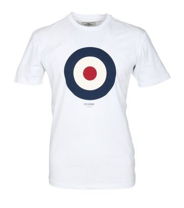 Ben Sherman T-Shirt Print Wit