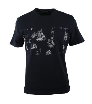 Ben Sherman Tshirt Donkerblauw Print