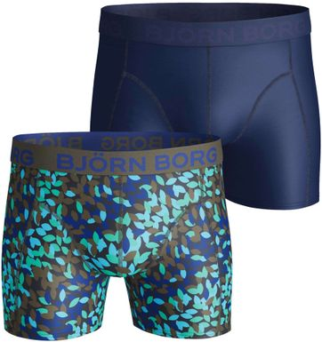 Bjorn Borg 2-Pack Boxers Blue and Print