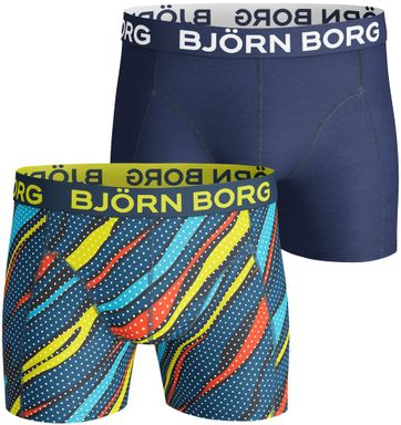 Bjorn Borg Boxers 2-Pack Blauw en Kleur