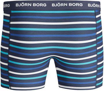 Detail Bjorn Borg Boxers 3Pack Blauw Streep