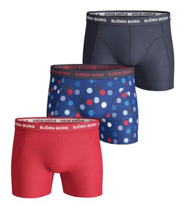 Bjorn Borg Boxers 3Pack Dots Blauw