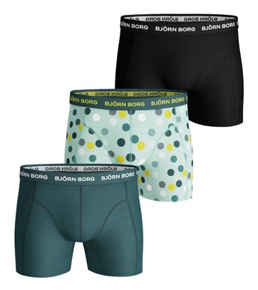Bjorn Borg Boxers 3Pack Dots Groen