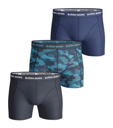 Bjorn Borg Boxers 3Pack Navy Blauw