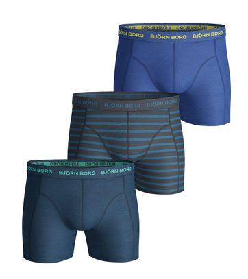 Bjorn Borg Boxers Stretch 3Pack Blauw