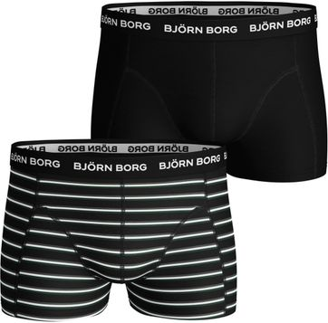 Bjorn Borg Boxershorts 2-Pack Black Beauty