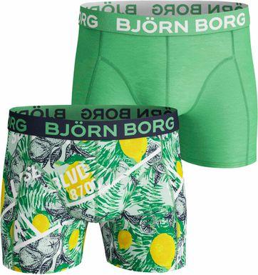 Bjorn Borg Boxershorts 2-Pack Lemon