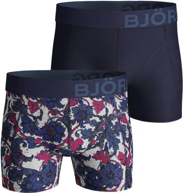 Bjorn Borg Boxershorts 2-Pack Uni and Flower Dessin