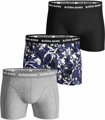 Bjorn Borg Boxershorts 3-Pack Deep Cobalt