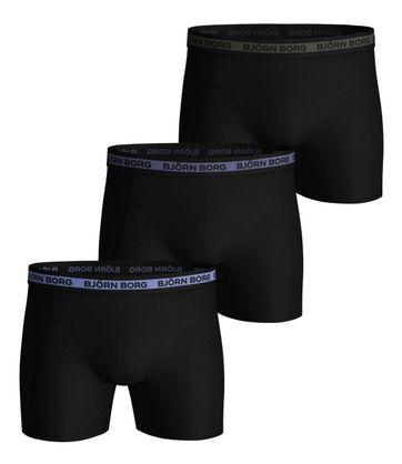Bjorn Borg Boxershorts 3-Pack Sammy Solid