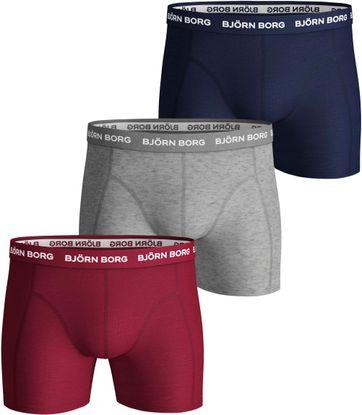 Bjorn Borg Boxershorts 3-Pack Solid Peacoat