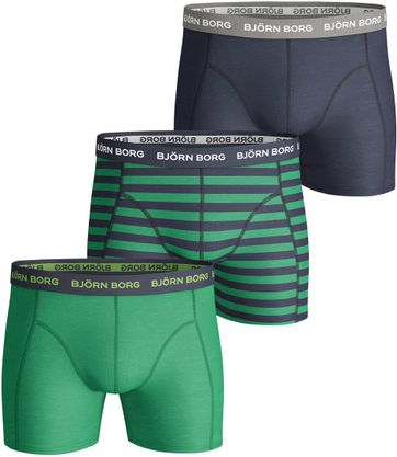 Bjorn Borg Boxershorts 3-Pack Solid Stripe