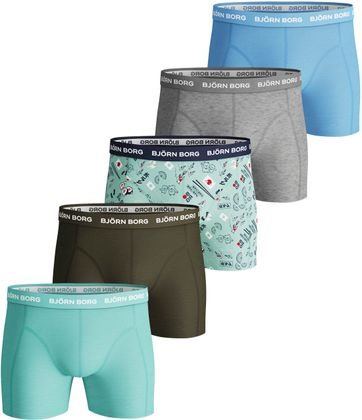 Bjorn Borg Boxershorts 5-Pack Beach Glass