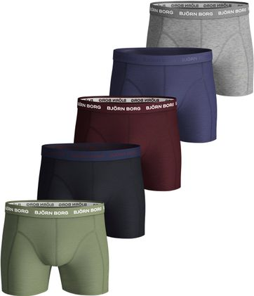 Bjorn Borg Boxershorts 5-Pack Oil Green