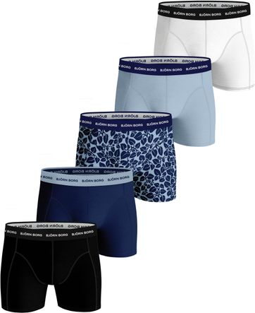 Bjorn Borg Boxershorts 5-Pack Sammy Fourflower Blauw