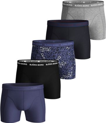 Bjorn Borg Boxershorts 5er-Pack Crown Blue
