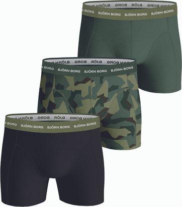 Bjorn Borg Boxershorts Sammy 3-Pack Dark Green
