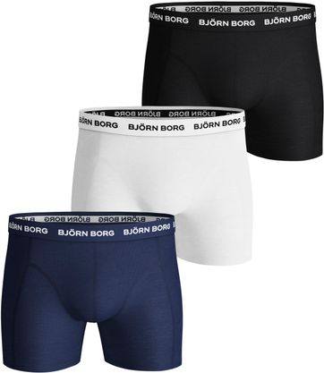 Bjorn Borg Boxershorts Solids 3-Pack