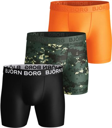 Bjorn Borg Shorts 3er-Pack Performance Woodland