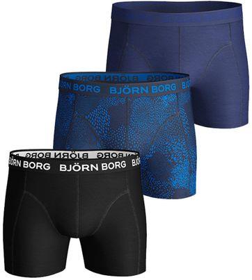 Björn Borg Essential Shorts 3er-Pack Blau Schwarz