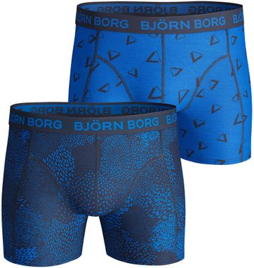 Björn Borg Shorts 2er-Pack Blau Grafik