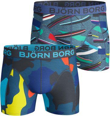 Björn Borg Shorts 2er-Pack Grafik Blau