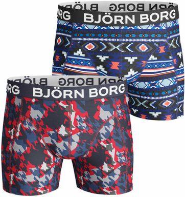 Björn Borg Shorts 2er-Pack Rot Blau